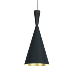 Beat Tall Pendant Black