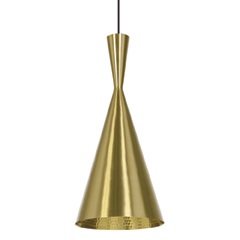 Beat Tall Pendant Brass