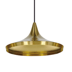 Beat Wide Pendant Brass