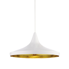 Beat Wide Pendant White