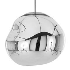 Melt Pendant 50cm Chrome