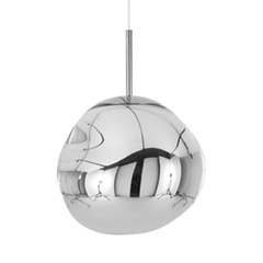 Melt Mini Pendant  27cm Chrome